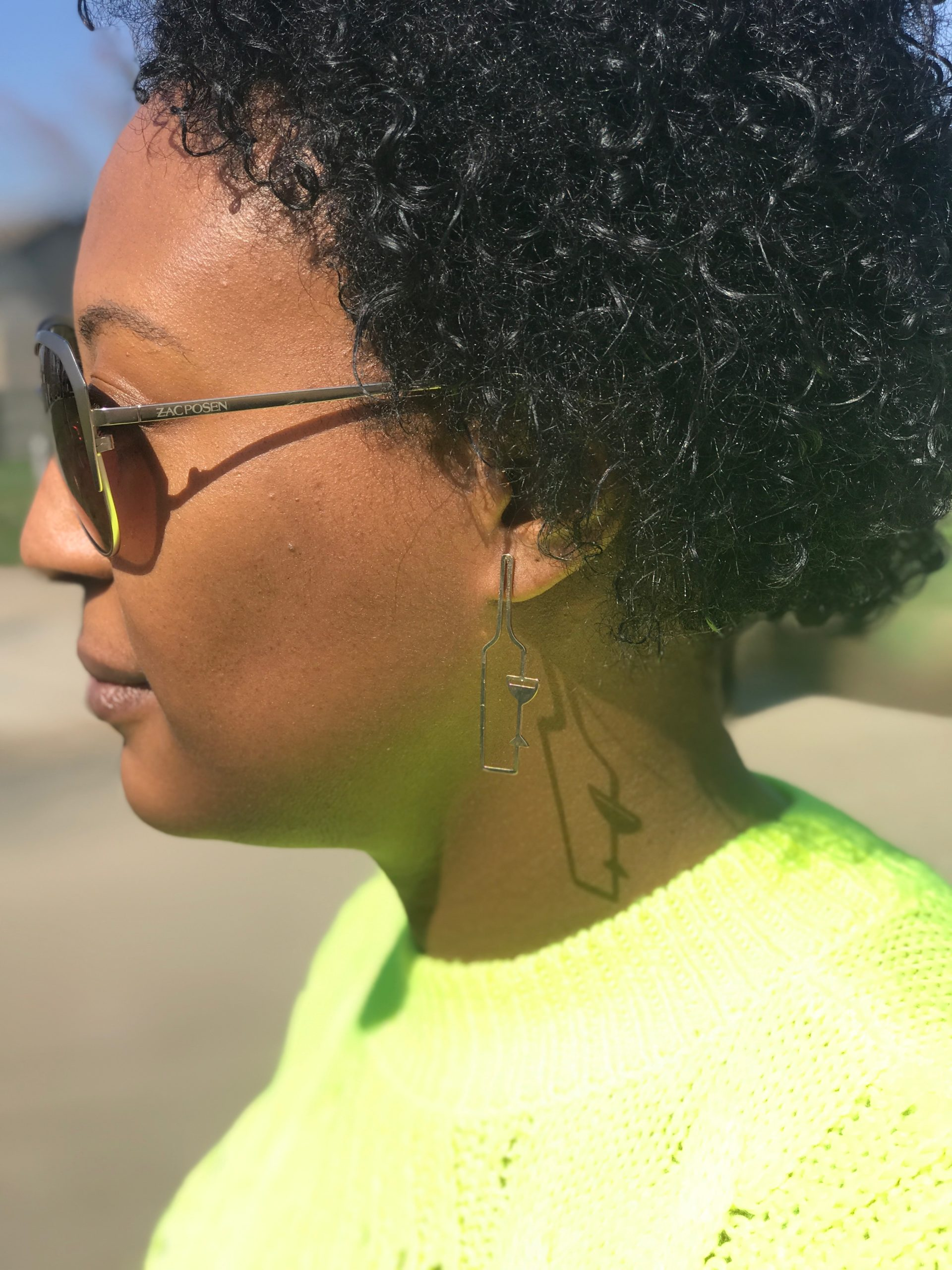 Earrings, Natural Hair