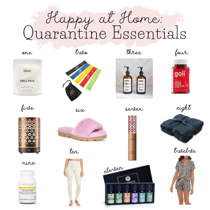 Healthy at Home, Quarantine Essentials